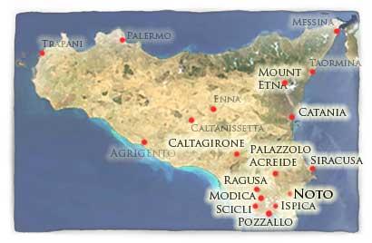 Cartina Noto Sicilia.Citta Di Noto Capitale Del Barocco Siciliano