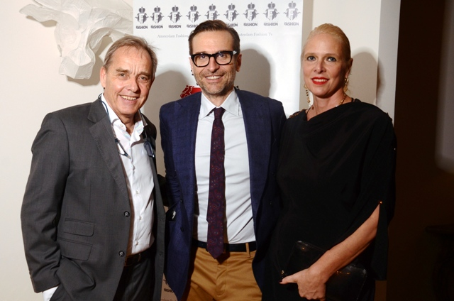Olandese Console Generale David PM de Waal, Presidente della Camera Buyer Italia Mario dell'Oglio e Christine Egger Responsabile PR Amsterdam Fashion Tv