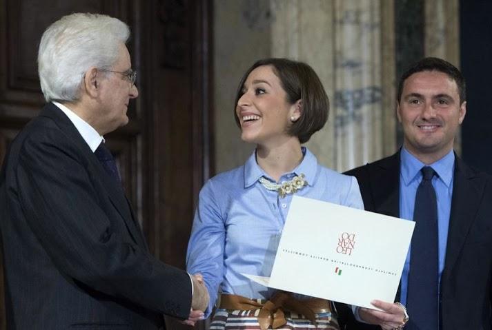 Sergio Mattarella premia Martina Baldini