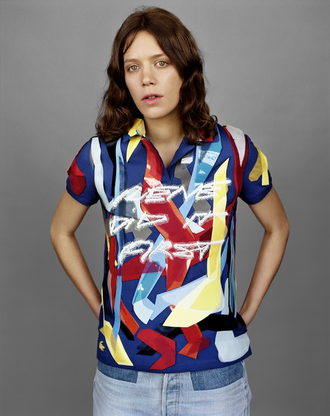 003. DJ CLARA 3000 IS WEARING A LACOSTE POLO EMBROIDERED BY LESAGE SHOT ...