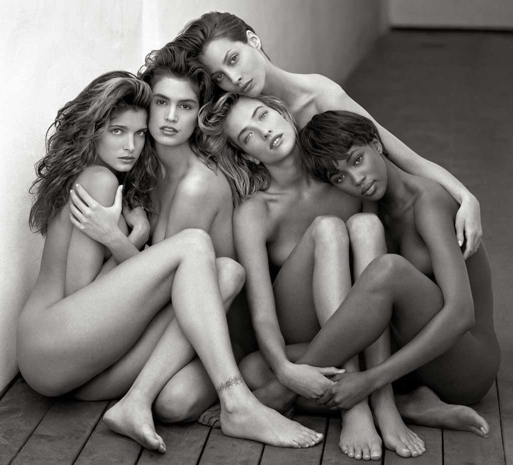 Herb-Ritts,-Stephanie,-Cindy,-Cristy,-Tatjana,-Naomi,-Hollywood-1989-©-Herb-Ritts-Foundation