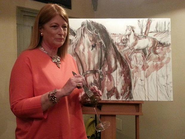 Elisabetta Rogai,dipingere con il vino,toscana