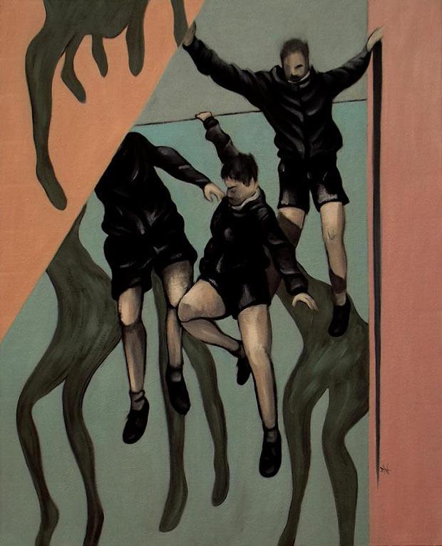 Studio figura - Profondità e piattezza - Olio su tela - 125x100 - 2015