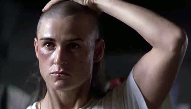 Demi Moore,Soldato Jane,capelli corti