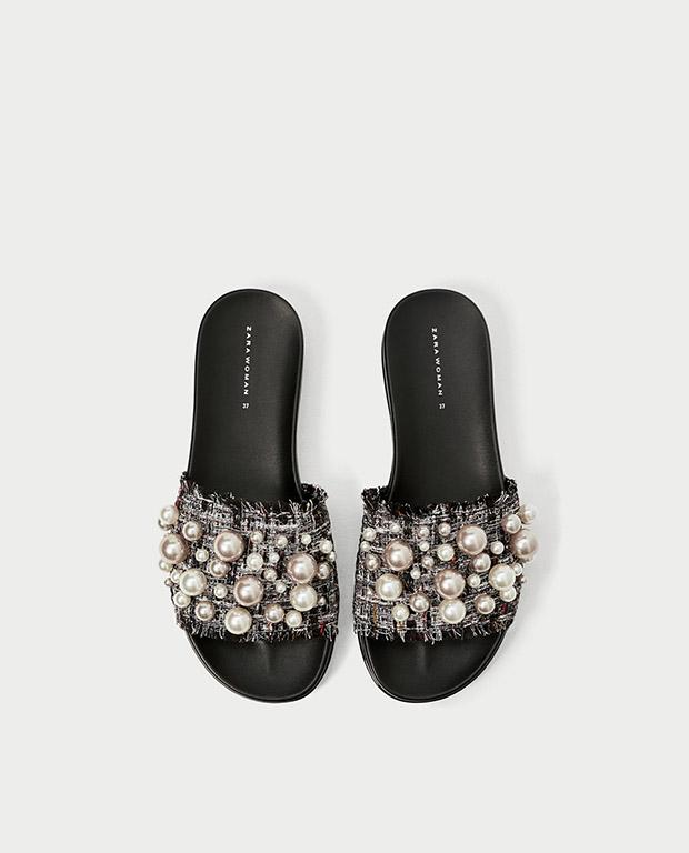 ciabatta zara,perle su ciabatta,perle di zara