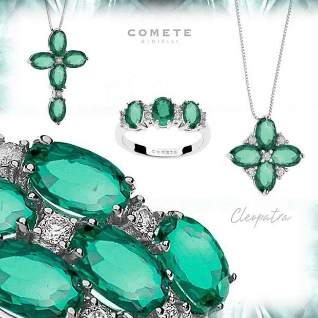 gioielli comete,collezione cleopatra