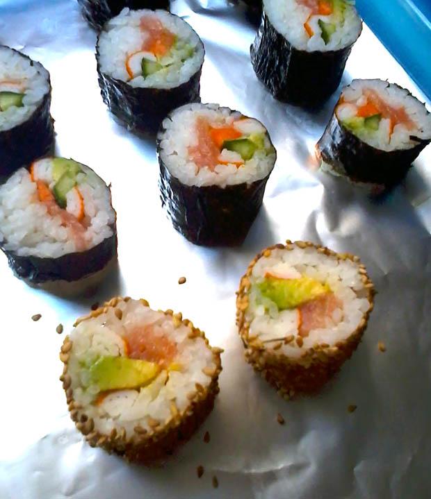 sushi in casa,preparare sushi,sushi fai da te