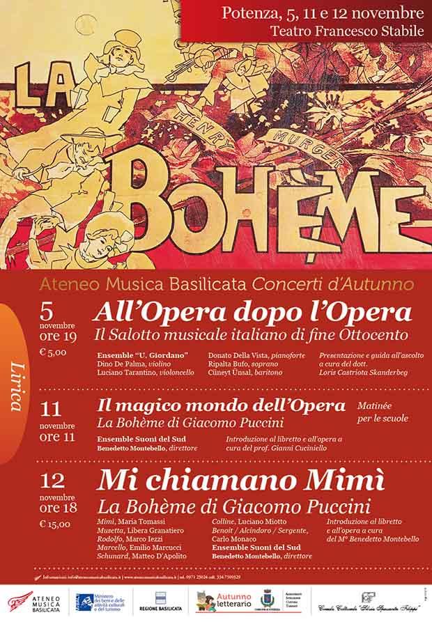 Bohème,Ateneo Musica Basilicata