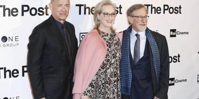 """Spielberg critica l'amministrazione Trump alla presentazione di """"The Post"""""""