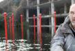 """Gli """"Spilli"""", una installazione sul Lago Ex Snia a Roma"""