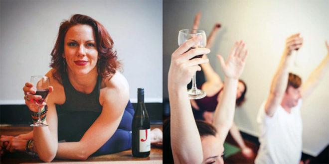 Drunk Yoga: ci si rilassa e si medita in compagnia di un calice di vino!