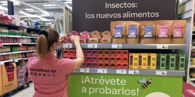 Carrefour mette sul mercato una linea di prodotti a base di insetti!