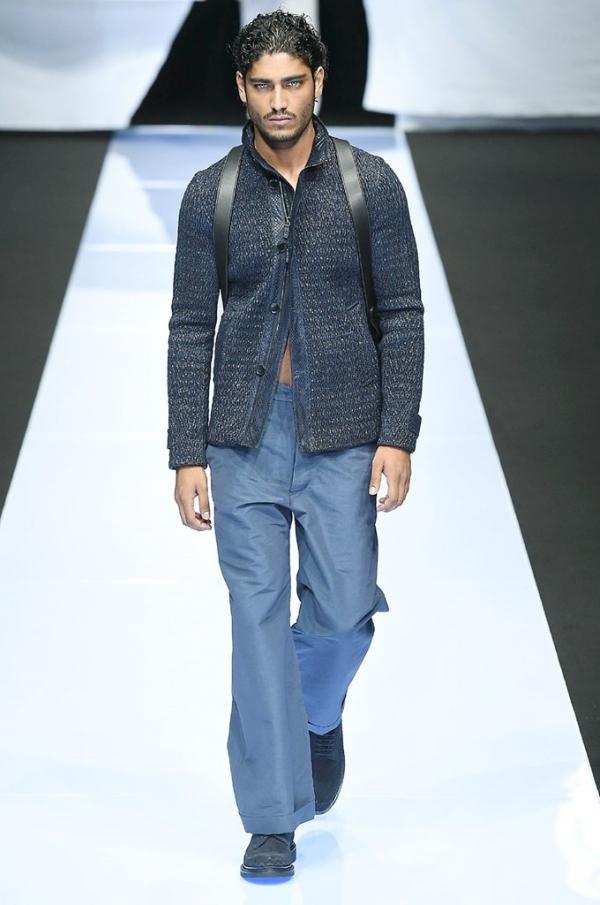 Armani Alpi il in Uomo Fashion doppiopetto passerella Magazine gzgO6nqW