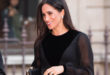 """Londra, Markle indossa un elegantissimo Givenchy per il primo """"assolo"""""""