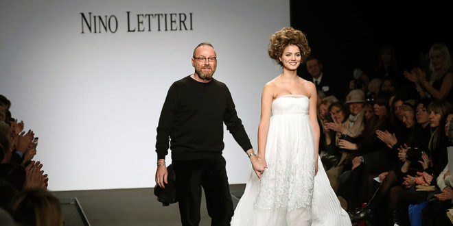 Nino Lettieri e una pioggia di fiocchi per la collezione per AltaRoma