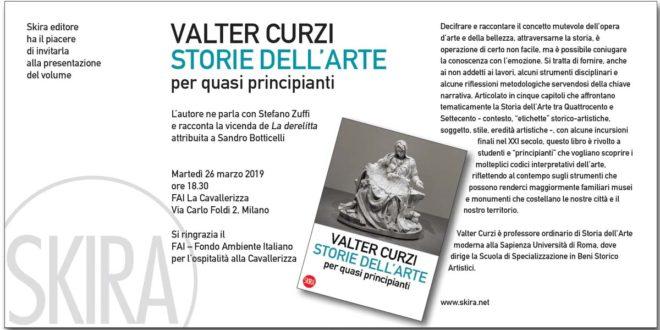 Valter Curzi con il libro Storie dell'arte per quasi principianti