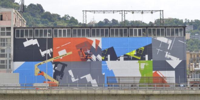 """""""On The Wall"""", la street art come ricostruzione dopo il crollo del Ponte di Genova"""