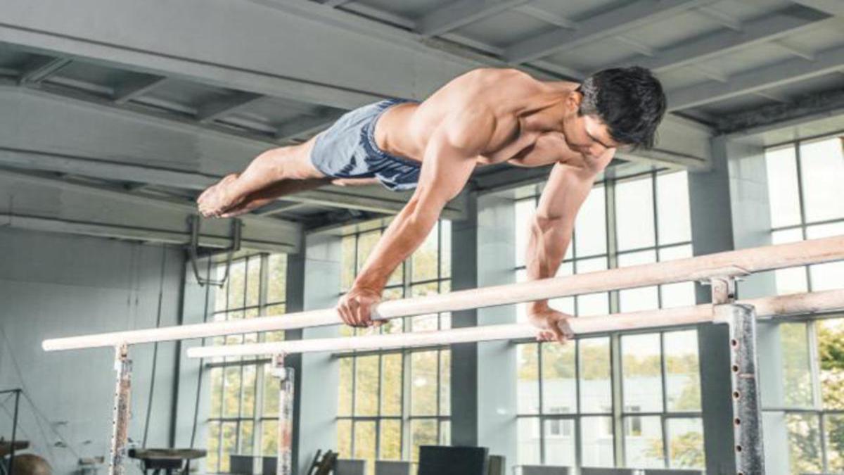 Stretching, gymnast